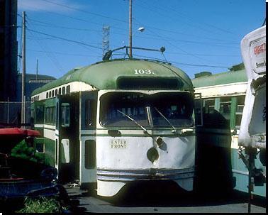 Tw 1038 auf Pier an der 23ten Strasse, 21.4.1989